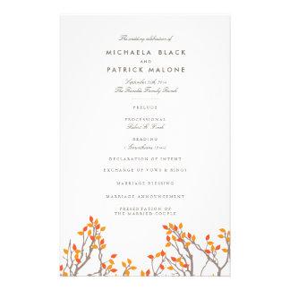 Blissful Branches Wedding Program Flyer Design