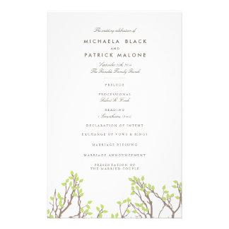 Blissful Branches Wedding Program Full Color Flyer
