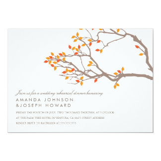 Blissful Branches Wedding Rehearsal Dinner Invite