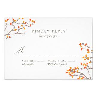 Blissful Branches Wedding RSVP Custom Invite