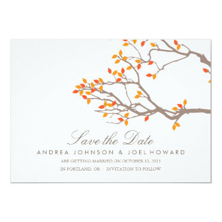 Blissful Branches Wedding Save the Date 13 Cm X 18 Cm Invitation Card