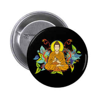 Blissful Buddha 6 Cm Round Badge