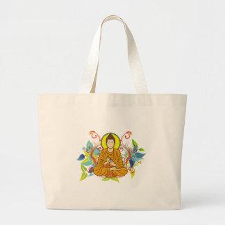 Blissful Buddha Large Tote Bag