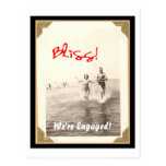 Blissful engagement postcard