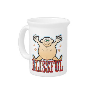 Blissful Fat Man Pitcher