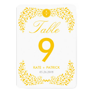 Blissful Laurel Double Sided Table Number Card