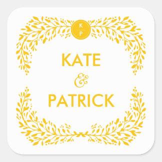 Blissful Laurel EDITABLE COLOR Wedding Sticker