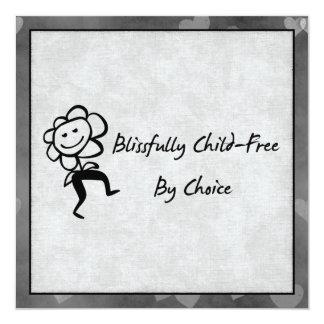 Blissfully Child-Free 13 Cm X 13 Cm Square Invitation Card