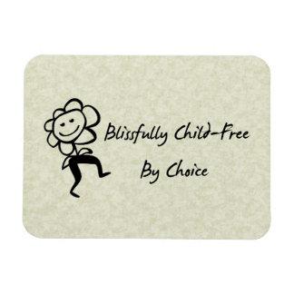 Blissfully Child-Free Rectangle Magnet