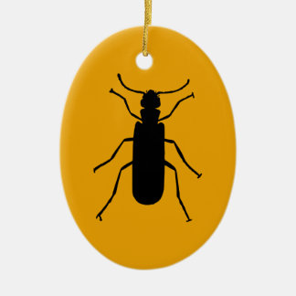 Blister Beetle Silhouette Christmas Ornament