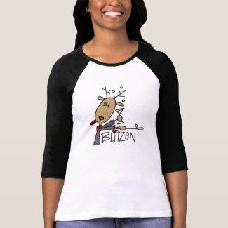 Blitzen Reindeer Christmas Tshirt