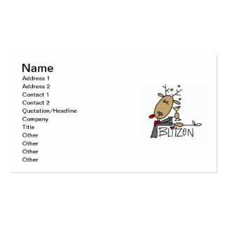 Blitzen Reindeer Christmas Tshirts and Gifts Business Cards