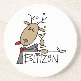 Blitzen Reindeer Christmas Tshirts and Gifts Coaster