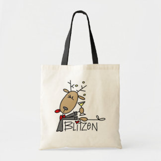 Blitzen Reindeer Christmas Tshirts and Gifts Tote Bag