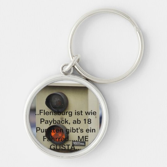 Blitzer, points in Flensburg, speed sinner Silver-Colored Round Key Ring