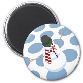 Bliz the Snowman Dtoted White Magnet