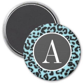 Blizzard Blue Leopard Animal Print Fridge Magnet
