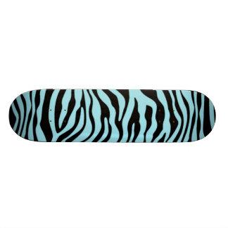 Blizzard Blue Zebra Animal Print Custom Skateboard