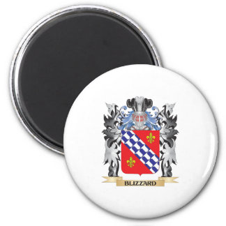 Blizzard Coat of Arms - Family Crest 6 Cm Round Magnet