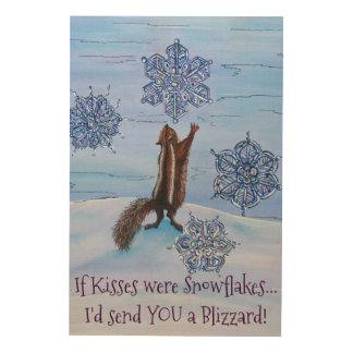Blizzard Kisses Wall Plaque! Wood Wall Decor