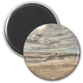 Blizzard on the Dunes 6 Cm Round Magnet