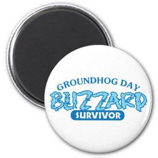 Blizzard Survivor 6 Cm Round Magnet