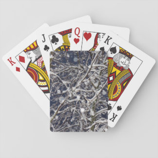 Blizzard Tree - Branches Covered in Snow Playing Cards