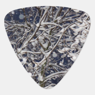 Blizzard Tree (with Snow Covered Branches) Photo Guitar Pick