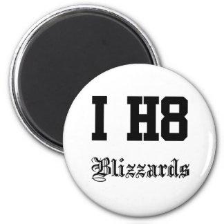 blizzards 6 cm round magnet