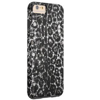 Blk&Wht Leopard Bling Tough iPhone 6 Plus Case