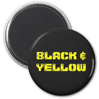 Bllack & Yellow Household Goods 6 Cm Round Magnet