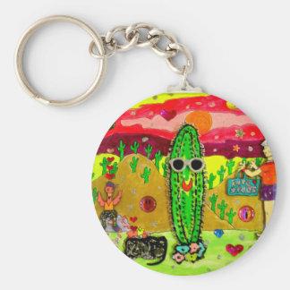 bloated cactus key ring
