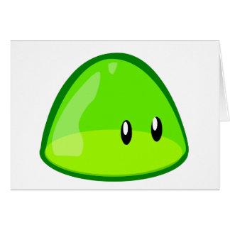 blob-161097 LIGHT GREEN CUTE CARTOON ALIEN blob, g Card