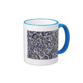 Blob 44- digital painting abstract art ringer mug