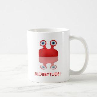 BLOB FICTION, blobby mirror, BLOBBYTUDE! Basic White Mug