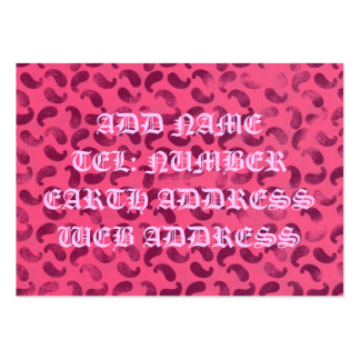 Blob  Pink and Crimson Business Card