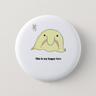 Blobfish 6 Cm Round Badge