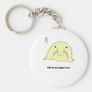 Blobfish Basic Round Button Key Ring
