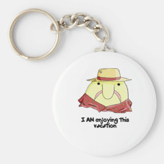 Blobfish on vacation key ring