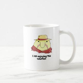Blobfish on vacation basic white mug