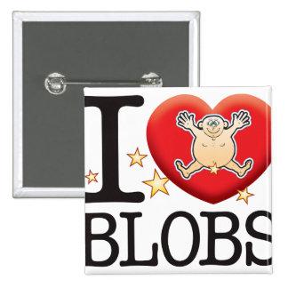 Blobs Love Man 15 Cm Square Badge