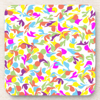 Blobs of Color Abstract Art Design Coaster