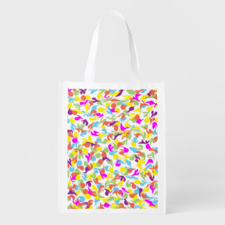 Blobs of Color Abstract Art Design Reusable Grocery Bag