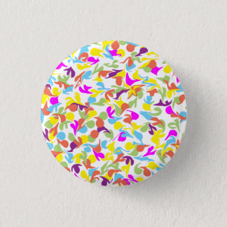 Blobs of Color on White 3 Cm Round Badge