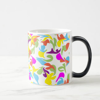 Blobs of Color on White Mug