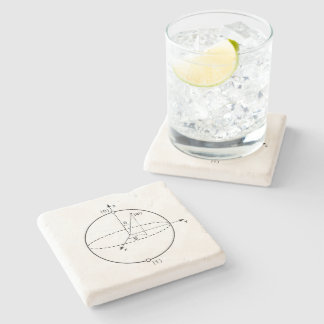 Bloch Sphere | Quantum Bit (Qubit) Physics / Math Stone Beverage Coaster