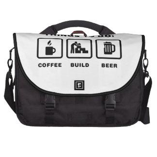 Block Building Laptop Messenger Bag