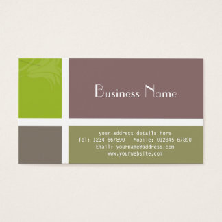 Block Colour Business Card