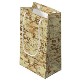 Block desert camouflage small gift bag