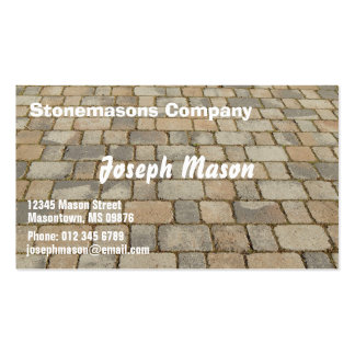 Block for pavements - stonemason Double-Sided standard business cards (Pack of 100)